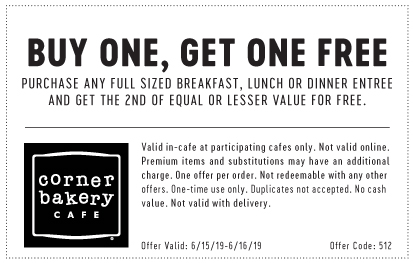 Corner Bakery Cafe Coupon