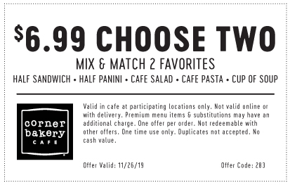 Choose Two Entrees for $6.99